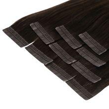 Tape In Extensions 40 cm Virgin Echthaar - höchste Qualität Farb: #2 dunkelbraun