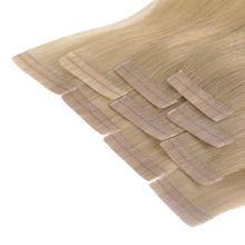 Tape In Extensions 50 cm Virgin Echthaar - höchste Qualität Farb: #18 mittelblond