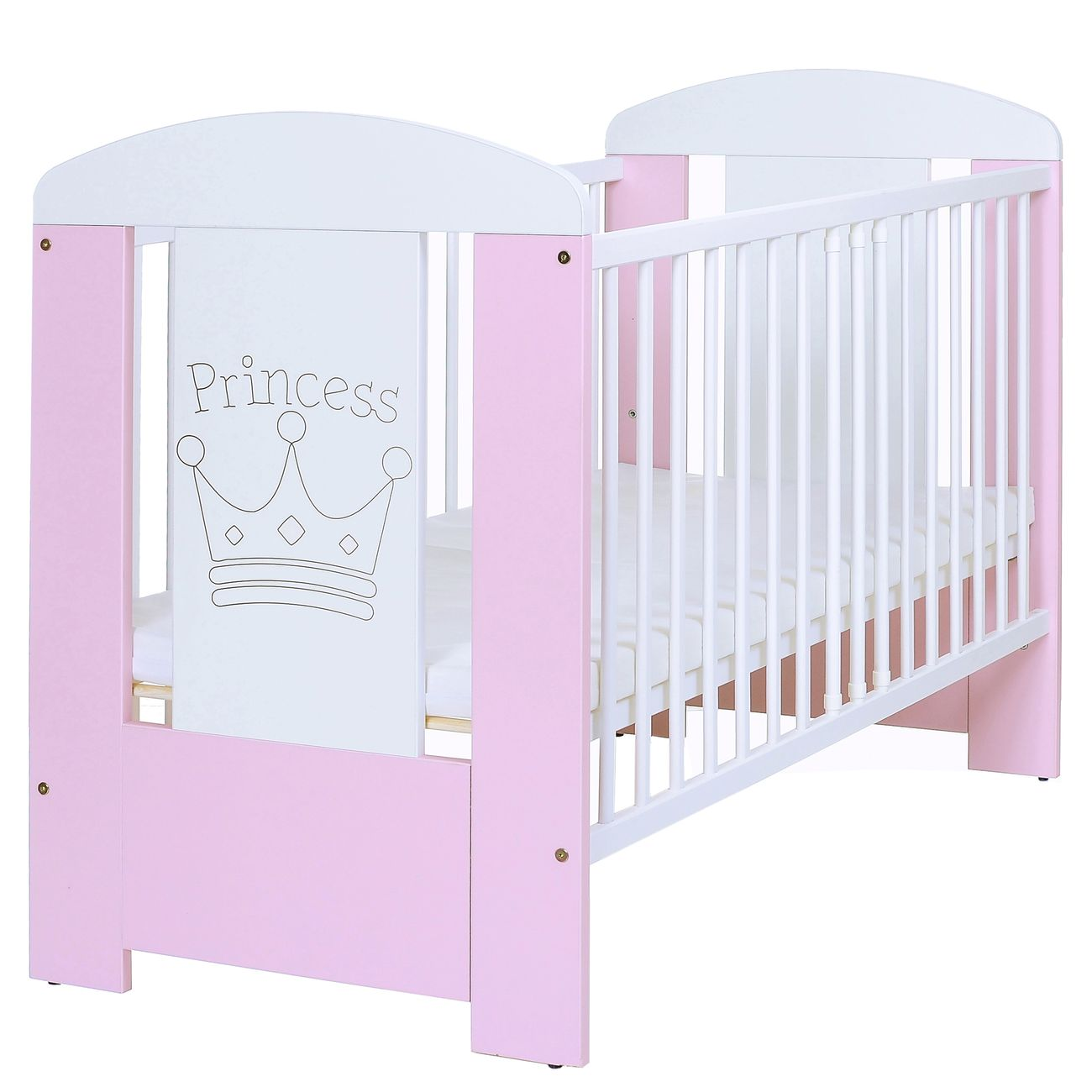 baby kinderbett prinzessin 120x60 holz gitter komplettzimmer matratze weiss rosa ebay