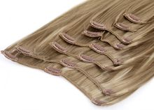Clip In Extensions Set 60 cm lang - glatt - #16 naturbraun 001