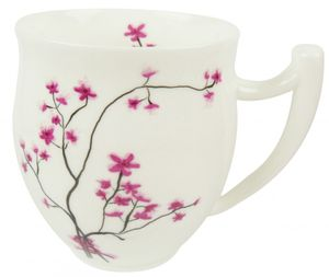 Becher 0,3l Cherry Blossom TeaLogic aus Fine Bone China Pozellan