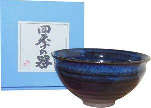 Matcha-Schale blau