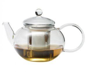 Teekanne MIKO 0,6l Edelstahlfilter Trendglas Jena