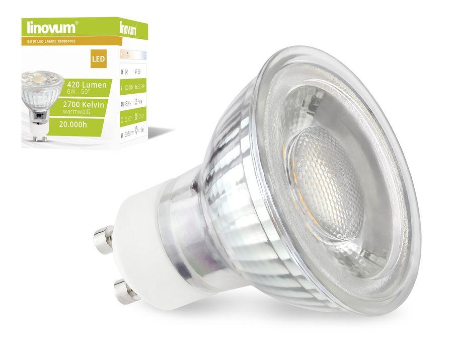 LED Leuchtmittel GU10 - 6W 420lm warmweiß
