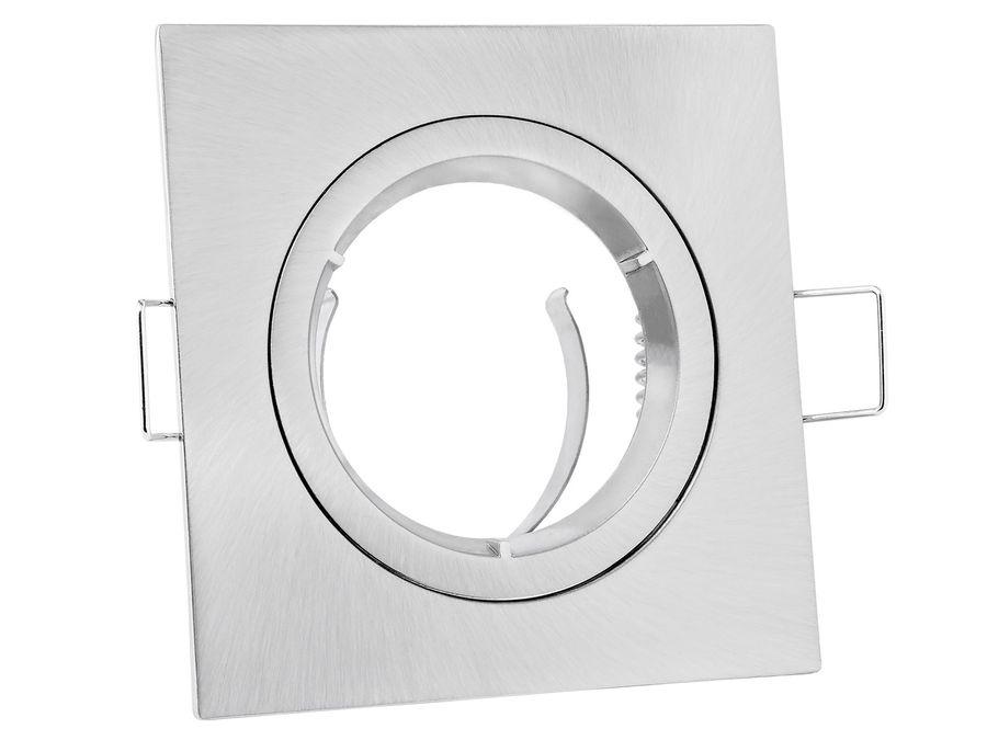 Einbaustrahler Rahmen Edelstahl Optik eckig starr