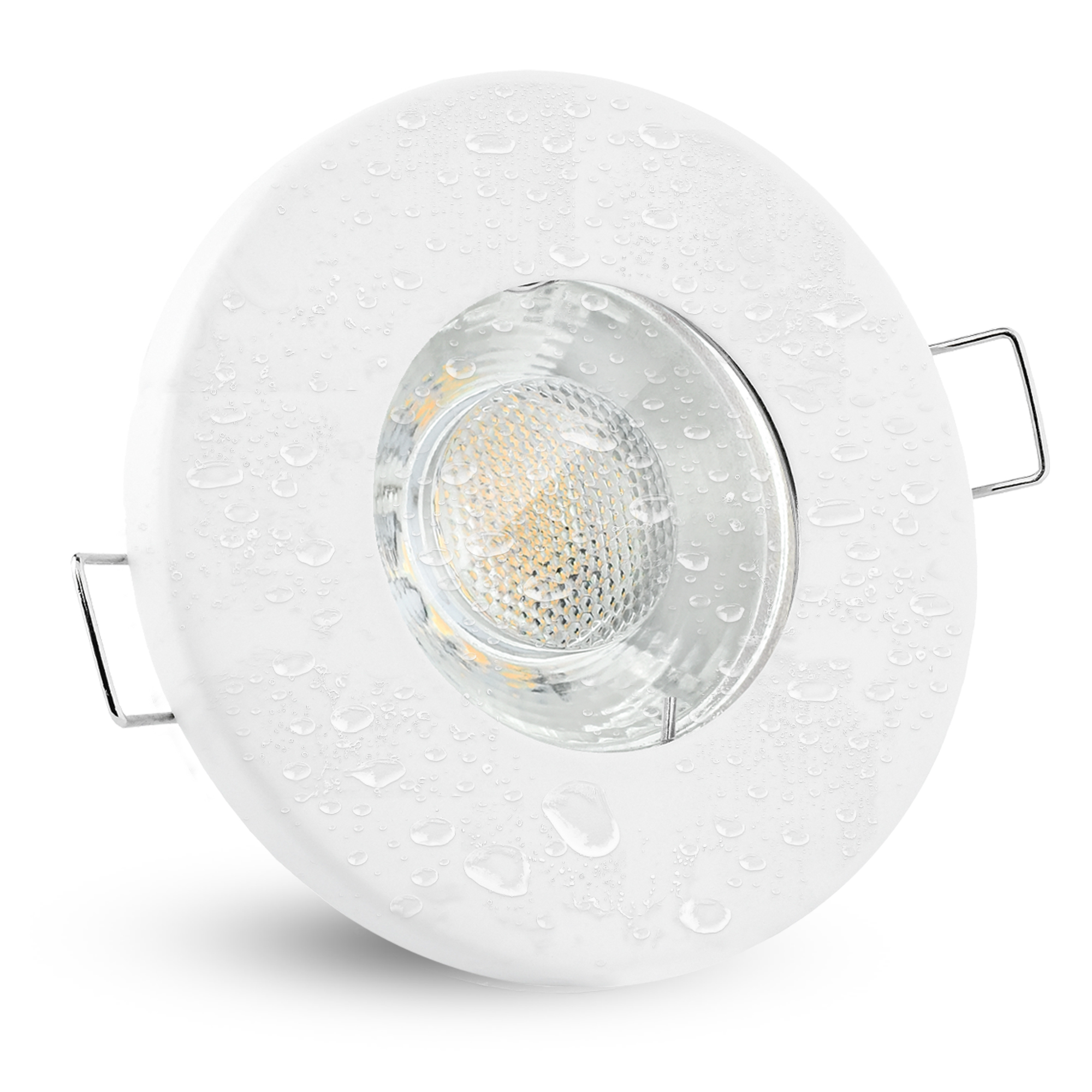 LED Einbaustrahler IP20 warmweiß GU20 20W 2200V   Weiß rund starr ...