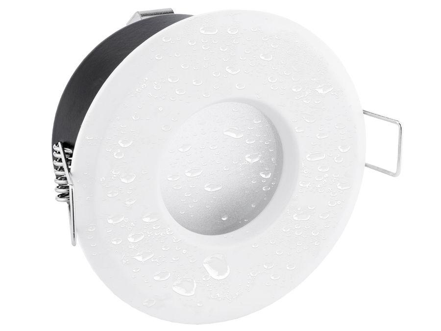 LED Einbaustrahler IP65 warmweiß LED MCOB Modul 5W 230V - Weiß rund starr flach