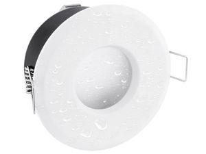 LED Einbaustrahler IP65 warmweiß LED MCOB Modul 5W 230V - Weiß rund starr flach 001