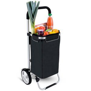 Einkaufstrolley SERAVA in schwarz mit Kühlfach 45l zusammenklappbar 001