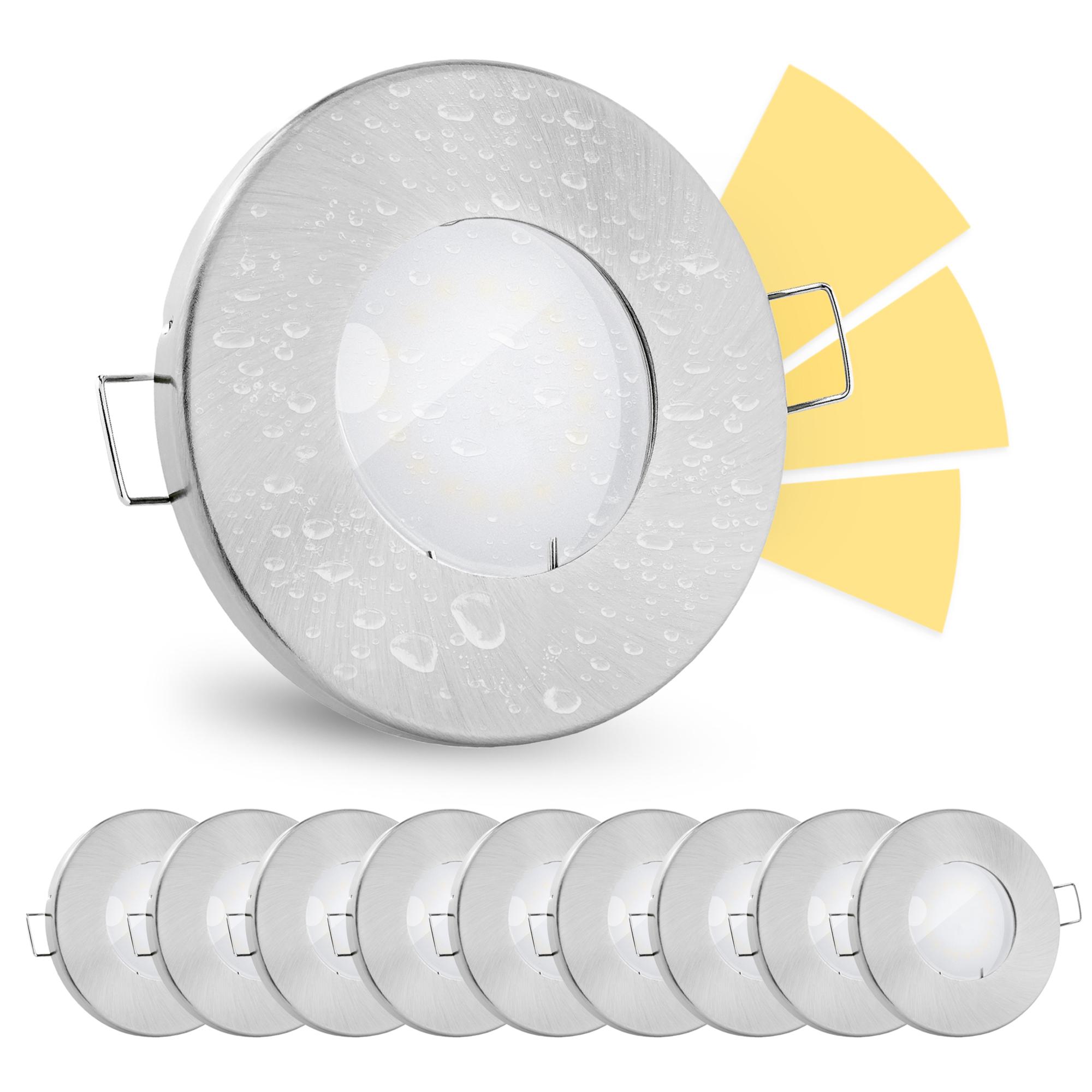 20 Stück fourSTEP LED Einbauspots Bad