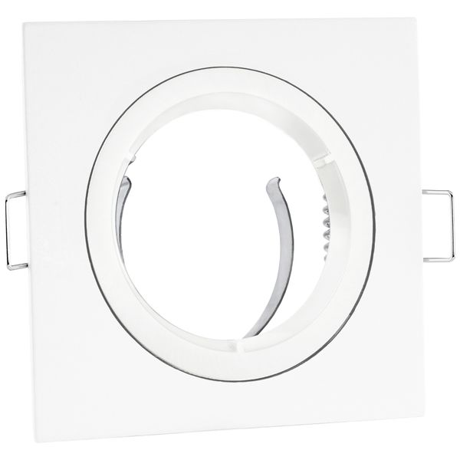 Einbaustrahler Rahmen matt-weiß eckig starr