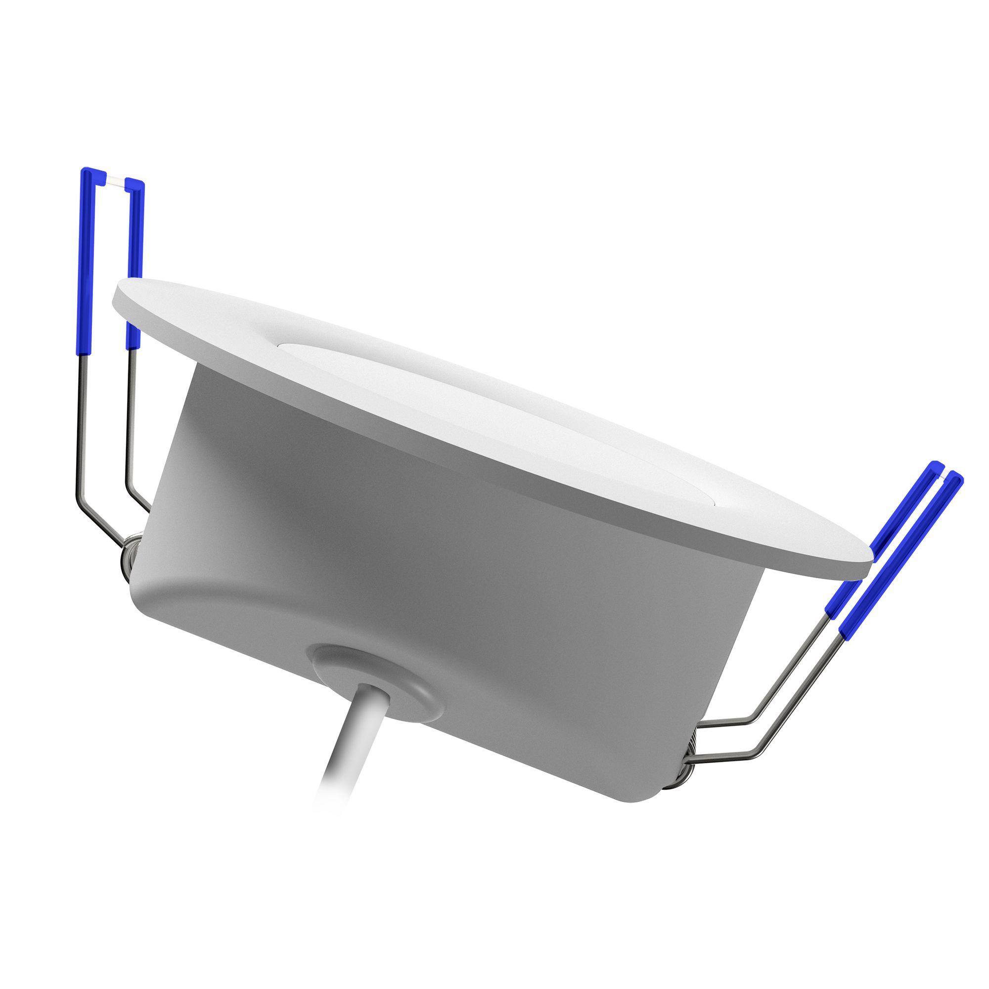 extra flache led einbaustrahler weevo dimmbar ip44 spots rund 4000k 6 5w f r bad au en. Black Bedroom Furniture Sets. Home Design Ideas