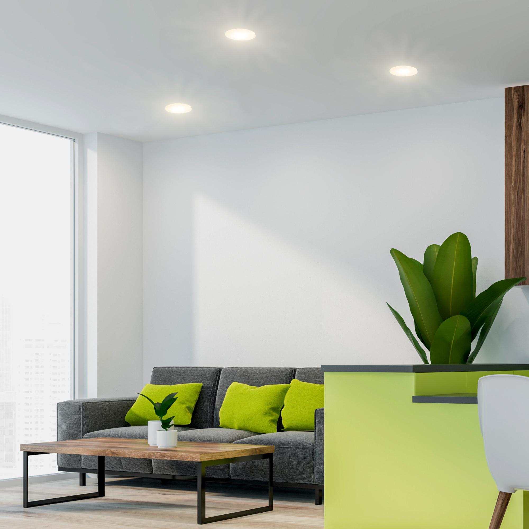 Randloses & flaches LED Einbaupanel paniled mit 18 Watt warmweiß 18V Panel  rund