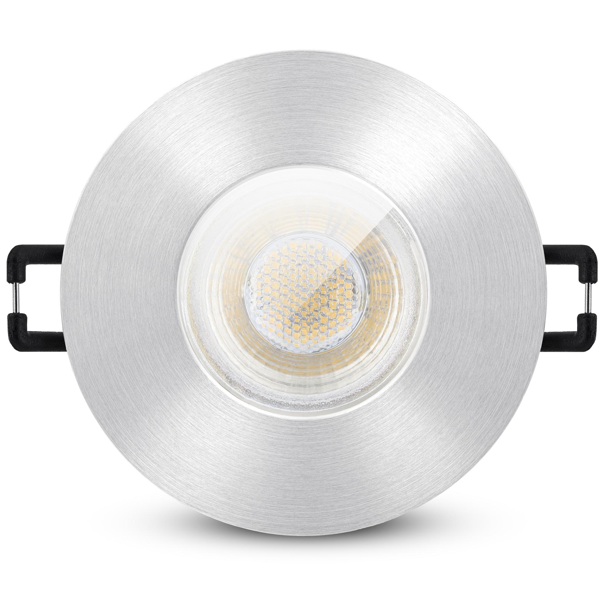 LED Bad Einbaustrahler IP20 GU20 20W neutralweiß 20V   Edelstahl ...