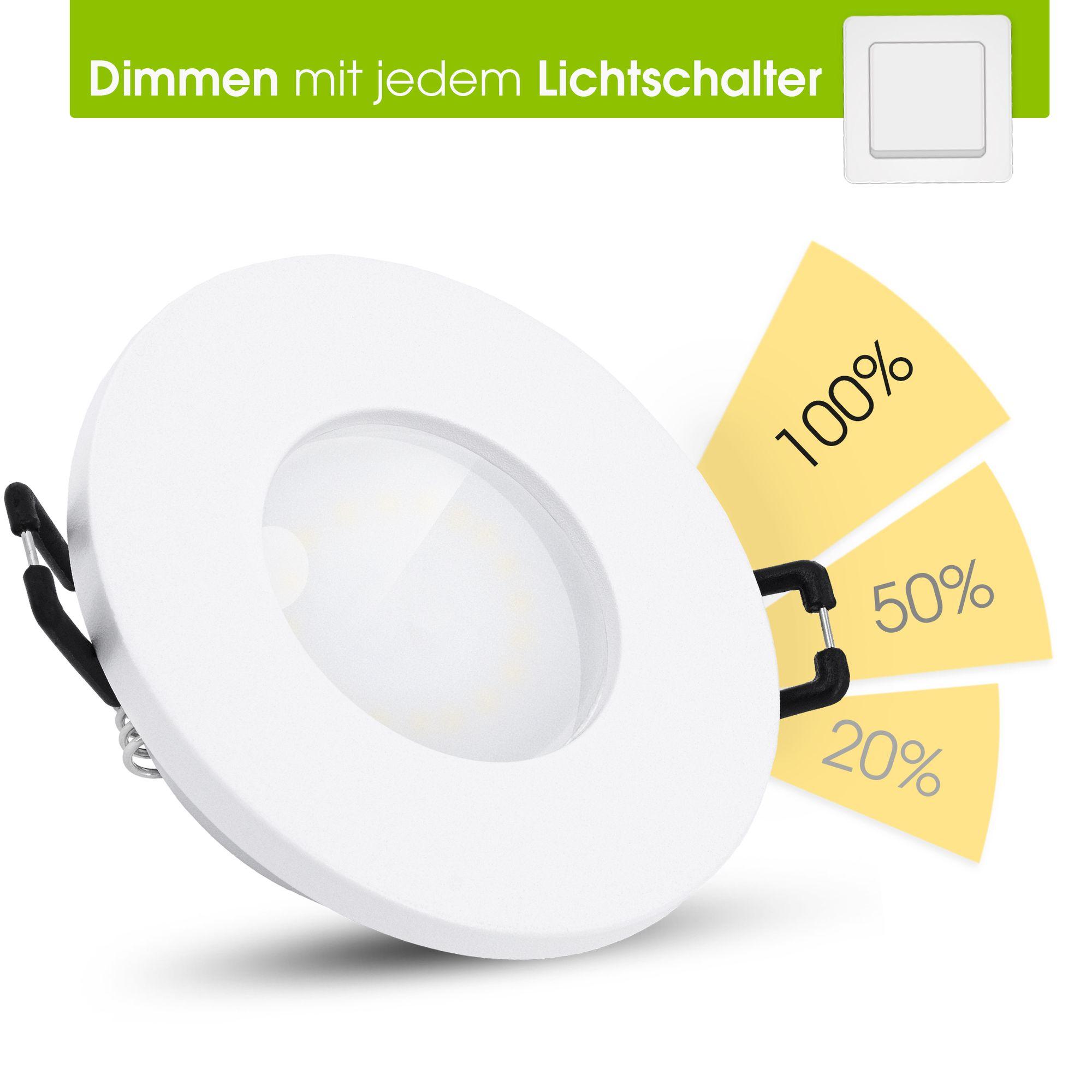 fourSTEP LED Einbaustrahler Bad IP20