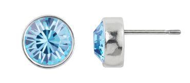 Ohrstecker small mit 6mm Crystals from Swarovski® - in dezenter Zinnguss-Fassung mit schmalem, glänzenden Rand – Bild 10