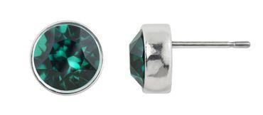 Ohrstecker small mit 6mm Crystals from Swarovski® - in dezenter Zinnguss-Fassung mit schmalem. glänzenden Rand – Bild 9