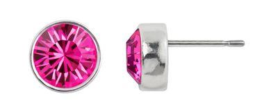 Ohrstecker small mit 6mm Crystals from Swarovski® - in dezenter Zinnguss-Fassung mit schmalem, glänzenden Rand – Bild 11