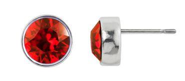 Ohrstecker small mit 6mm Crystals from Swarovski® - in dezenter Zinnguss-Fassung mit schmalem, glänzenden Rand – Bild 14