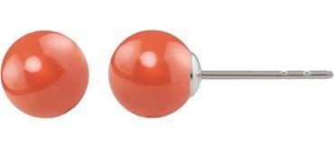 Perlenohrstecker mit 8mm Swarovski ® Perle - Sterlingsilber – Bild 3