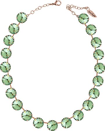 Classical Necklace with 14mm Swarovski Crystals, silver plated, plain colored – Bild 8
