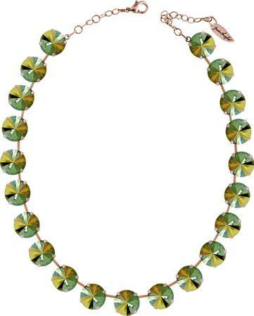 Classical Necklace with 14mm Swarovski Crystals, silver plated, plain colored – Bild 10