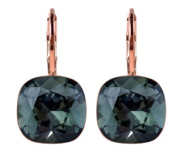 classical earring with 9mm Swarovski crystal, silver plated – Bild 2