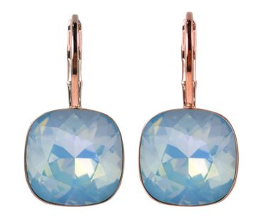 classical earring with 9mm Swarovski crystal, silver plated – Bild 3