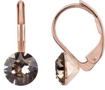 Ohrhänger 6mm Chaton, rosé vergoldet – Bild 13
