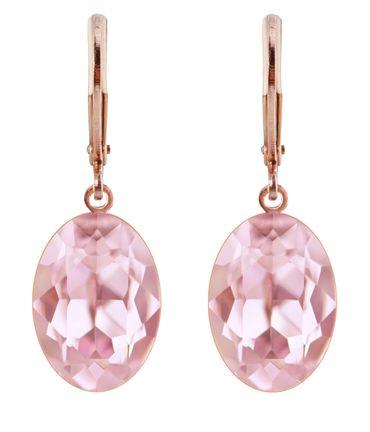 Ohrhänger Oval Ecliptic mit Swarovski® Kristall 14x10 rosé vergoldet – Bild 15