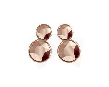 Ohrstecker Skinny Mini, Doppel-Kristall rosé vergoldet – Bild 3