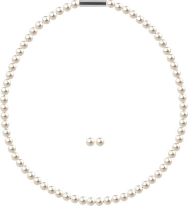 Pearl necklace, small, 6mm, with original SWAROVSKI - pearls – Bild 4