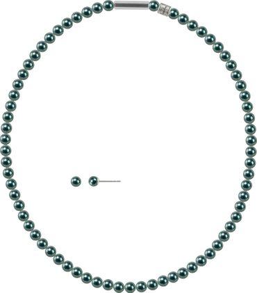 2er Schmuckset Perlenkette und Ohrstecker 6mm mit original Swarovski ® Perlen – Bild 10