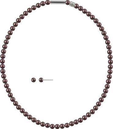 2er Schmuckset Perlenkette und Ohrstecker 6mm mit original Swarovski ® Perlen – Bild 14