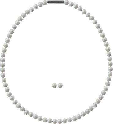 Pearl necklace, small, 6mm, with original SWAROVSKI - pearls – Bild 19