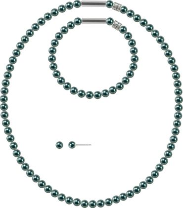 Pearl necklace, small, 6mm, with original SWAROVSKI - pearls – Bild 11