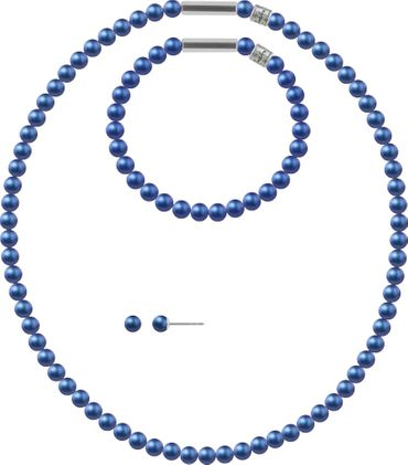 Pearl necklace, small, 6mm, with original SWAROVSKI - pearls – Bild 23
