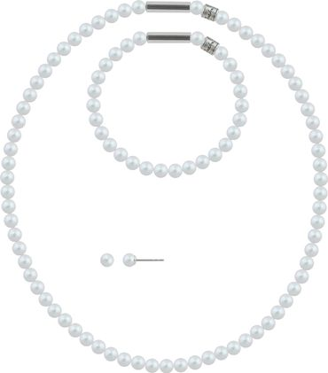 Pearl necklace, small, 6mm, with original SWAROVSKI - pearls – Bild 1