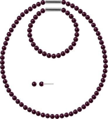 Pearl necklace, small, 6mm, with original SWAROVSKI - pearls – Bild 2