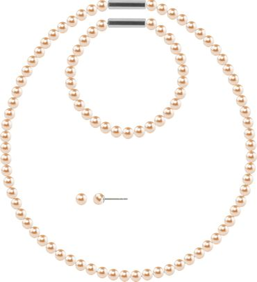 Pearl necklace, small, 6mm, with original SWAROVSKI - pearls – Bild 8