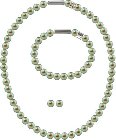 Pearl necklace, small, 6mm, with original SWAROVSKI - pearls – Bild 10