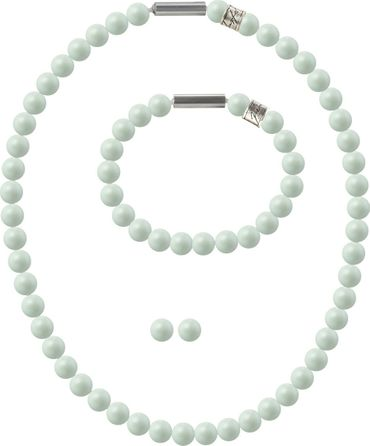 Pearl necklace, small, 6mm, with original SWAROVSKI - pearls – Bild 18