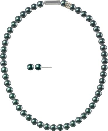 Pearl necklace, small, 6mm, with original SWAROVSKI - pearls – Bild 21