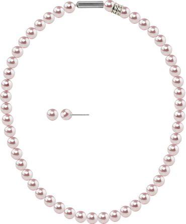 2er Perlen-Schmuckset 8mm Stecker und Collier mit original Swarovski ® Perlen 8mm – Bild 13