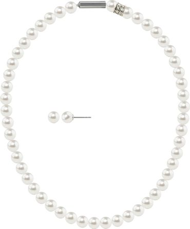 Pearl necklace, small, 6mm, with original SWAROVSKI - pearls – Bild 14