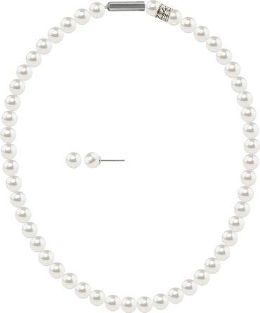 2er Perlen-Schmuckset 8mm Stecker und Collier mit original Swarovski ® Perlen 8mm – Bild 14