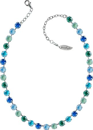 Classical Necklace with 9mm Swarovski Crystals, silver plated – Bild 11