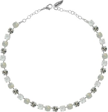 Classical Necklace with 9mm Swarovski Crystals, silver plated – Bild 13