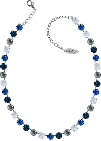 Classical Necklace with 9mm Swarovski Crystals, silver plated – Bild 12