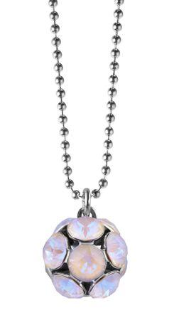 Shiny Ball Glitzerkugel an extra langer, silberfarbener Kette – Bild 8